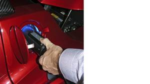 The Tesla Roadster is easy to charge.