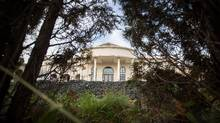 A mansion is seen in Richmond, where frustrations are mounting over the loss to development of some of the province's best agricultural land. (Ben Nelms/The Globe and Mail)