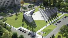 A rendering of the proposed memorial to victims of communism in Ottawa.