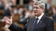 Prime Minister Stephen Harper speaks during Question Period in the House of Commons on May 9, 2012. (CHRIS WATTIE/Chris Wattie/Reuters)