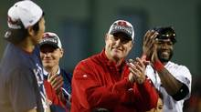 Boston Red Sox manager John Farrell is seen after his team defeated the Detroit Tigers in game six of the American League Championship Series playoff game at Fenway Park. (Greg M. Cooper/USA Today Sports)