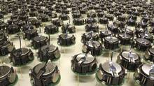 The Kilobots, a swarm of 1,000 simple but collaborative robots are pictured in this undated handout photo obtained by Reuters August 14, 2014. The robots, each just a few centimeters across, standing on three pin-like legs, are capable of collaborating to perform complex behaviours. To computer scientists, they also represent a significant milestone in the development of collective artificial intelligence. (Mike Rubenstein and Science/AAAS/Handout/REUTERS)