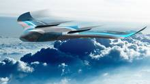 A rendering of the Ikaros personal gliding aircraft concept. (Charles Bombardier)
