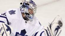 Toronto Maple Leafs goalie James Reimer gets the call to start against Pittsburgh. THE CANADIAN PRESS/Paul Chiasson (Paul Chiasson)