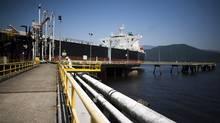 Kinder Morgan Westridge marine terminal in Burnaby, British Columbia. (Rafal Gerszak For The Globe and Mail)