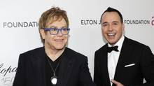 Sir Elton John and partner David Furnish attend the 18th Annual Elton John AIDS Foundation Academy Award Party in Hollywood, March 7, 2010. (Larry Busacca/Getty Images)