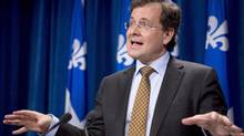 Quebec Justice Minister Bertrand St-Arnaud on Jan. 16, 2013. (JACQUES BOISSINOT/THE CANADIAN PRESS)