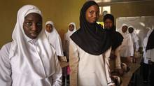 At Maitama Sule Girls Academy in Kano, Nigeria, 15- and 16-year old students attend an Islamic studies class. (Erin Conway-Smith for the Globe and Mail)