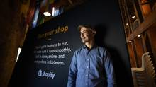 Tobias Lütke, founder and CEO of Shopify, an e-commerce company, is pictured during an interview after the opening of the company's new offices in Waterloo, Ont. on Oct 1 2015. (Fred Lum/Fred Lum/The Globe and Mail)