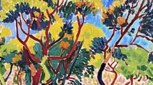 A detail of André Derain's Arbres à Collioure.