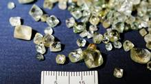 On Feb. 3, 2014, the Canada Border Services Agency seized more than 1,500 carats of rough diamonds at Toronto's Pearson International Airport. (RCMP)