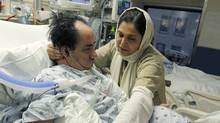 Hassan Rasouli, shown with his wife, Parichehr Salasel, has been in a persistent vegetative state since October, 2010. (Fernando Morales/The Globe and Mail)