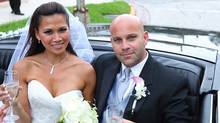 Hanh Dinh and Lazaro Sopena on their wedding day in Miami Beach, 2011. (Jay Nguyen/Reuters)