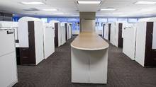An office space in downtown Calgary sits empty in 2016. More than a quarter of the city's downtown office space sits empty (Chris Bolin For The Globe and Mail)