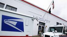The entrance of a United States Post Office is seen in Manhasset, New York. (SHANNON STAPLETON/Reuters)