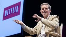 Reed Hastings, CEO of Netflix makes a keynote speech at the Canada 3.0 conference in Toronto on Tuesday, May 14, 2013. (Michelle Siu For The Globe and Mail)