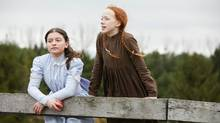 Dalila Bela as Diana Barry and Amybeth McNulty as Anne Shirley. (CBC)