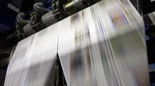 New York Post's printing plant in the Bronx borough of New York on Monday, June 5, 2006. (JASON DECROW/AP)
