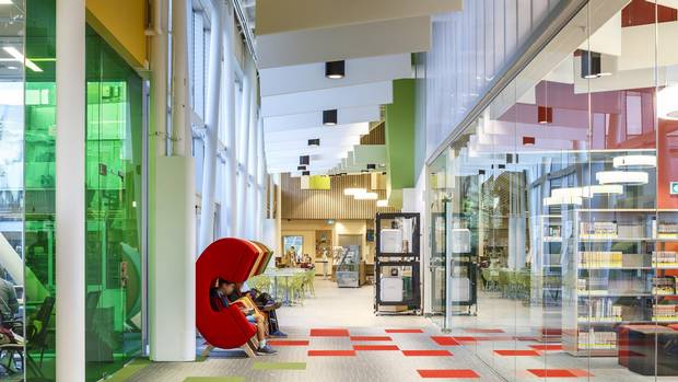 The Interior Of The Vaughan Civic Centre Resource Library Features A  Sequence Of Small And Large