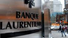 File photo of Laurentian Bank's main branch in downtown Montreal. (John Morstad/The Globe and Mail)