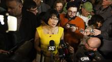 Olivia Chow speaks in Toronto on March 16, 2014. (MICHELLE SIU FOR THE GLOBE AND MAIL)