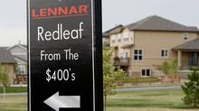A Lennar development in Broomfield, Colo.; U.S. housing data will be released Tuesday (RICK WILKING)