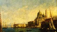 Church of Santa Maria della Salute by Francesco Guardi is one of three paintings reported missing by the University of Toronto, though the frames were left behind. Police say they believe the same thief (or thieves) is responsible.