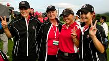 Team Canada: Augusta James, captain Liz Hoffman, Brooke Henderson and Brittany Marchand (IGF)