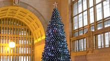 Canadian Tire says its Union Station tree is illuminated by the spirit of Christmas. But it's not quite as simple as that. (Canadian Tire/Canadian Tire)