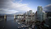 Downtown Vancouver, British Columbia is seen in this file photo. (Rafal Gerszak For The Globe and Mail)