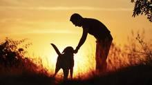 Man with dog (Thinkstock)