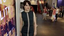 Canadian actress Emily Hampshire on King St. in Toronto on September 05, 2012 (Fernando Morales/The Globe and Mail)