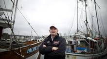 Dr. Brian Riddell, President and CEO of the Pacific Salmon Foundation, is photographed at the False Creek Fisherman's Wharf in Vancouver, British Columbia, Saturday, October 13, 2012. (Rafal Gerszak For The Globe and Mail)
