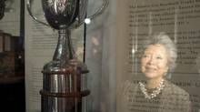 The Clarkson Cup is named after former governor general Adrienne Clarkson. The cup is awarded annually to the champion of the Canadian Women's Hockey League. (Frank Gunn/THE CANADIAN PRESS)