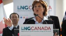 For B.C. Premier Christy Clark, no campaign promise was bigger than her vow to transform the provincial economy with billions from a liquefied natural gas industry she said would be up and running by the time the next date with voters arrived. (DARRYL DYCK/THE CANADIAN PRESS)