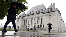 The Supreme Court of Canada building is pictured, in Ottawa, on October 15, 2014. (Sean Kilpatrick/THE CANADIAN PRESS)