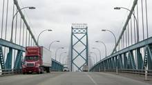 The Ambassador Bridge between Windsor, Ont., and Detroit is shown in March, 2013. The bridge's owner has opposed a $1-billion plan to build another bridge across the U.S.-Canada border. (DEBORAH BAIC/THE GLOBE AND MAIL)