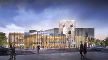 A revitalized National Arts Centre in Ottawa is shown in this artist's rendering. (Handout/Diamond Schmitt Architects/The Canadian Press)