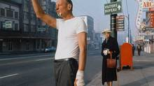 """Fred Herzog's """"Man With Bandage,"""" 1968 (Courtesy of Equinox Gallery, Vancouver and Canadian Museum of Contemporary Photography, Ottawa)"""
