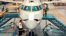 The Bombardier CRJ plant in Mirabel, Que.