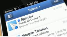 Clip of Sparrow e-mail software (SPARROW)