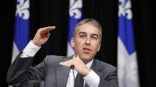 Finance Minister Nicolas Marceau is trying to contain the growth of Quebec's expenses. (MATHIEU BELANGER/REUTERS)