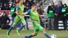 Seattle Sounders forward Jordan Morris (13) kicks a goal during second half of the second leg of the MLS Western Conference Championship against the Colorado Rapids at Dick's Sporting Goods Park. (Chris Humphreys/USA Today Sports)