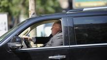 Toronto Mayor Rob Ford is pictured in his car in 2012. (Fred Lum/The Globe and Mail)