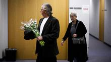 Rene Beaudoin and his wife Lilliane Beaudoin, arrive at the Missing Women inquiry in Vancouver, Oct. 24, 2011. Ms. Beaudoin's adopted sister Dianne Rock is one of Robert Pickton's victims. (Rafal Gerszak For The Globe and Mail/Rafal Gerszak For The Globe and Mail)