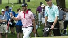 Canada's Graham DeLaet and two-time Canadian Open champion Jim Furyk (Paul Chiasson/The Canadian Press)