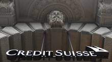 Two former Credit Suisse traders pleaded guilty in U.S. District Court in New York on Wednesday to a criminal charge of conspiracy to commit falsification of books and to commit wire fraud. (Christian Hartmann/Reuters/Christian Hartmann/Reuters)