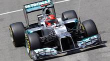 Mercedes Formula One driver Michael Schumacher of Germany takes a curve during the qualifying session at the Monaco F1 Grand Prix May 26, 2012. (Max Rossi/Reuters/Max Rossi/Reuters)