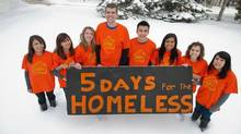 The University of Alberta's School of Business team participating in the campaign to raise awareness about youth homelessness. (Univeristy of Alberta)