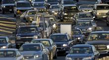 Heavy Toronto traffic on the westbound Gardiner Expressway. (Fred Lum/Fred Lum/THE GLOBE AND MAIL)